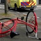 fietsongeval tijdens werk