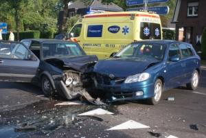 bedrijfsongeval met de auto van de zaak ongeluk